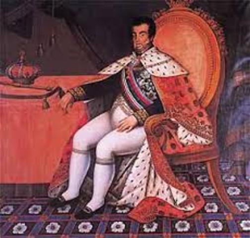 D. João VI jura a Constituição.