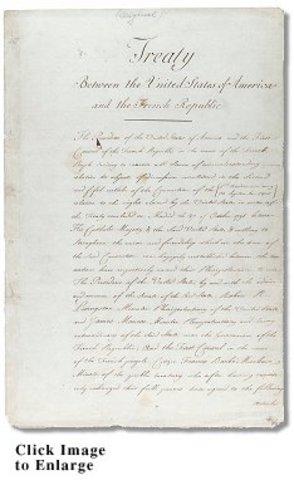 Louisiana Purchase Treaty Signed
