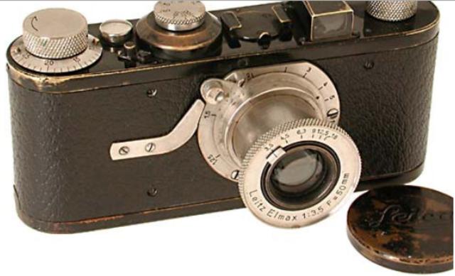 The Leica camera.