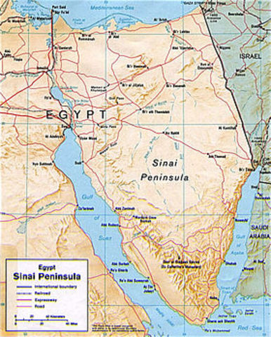 Egyptian massing of forces