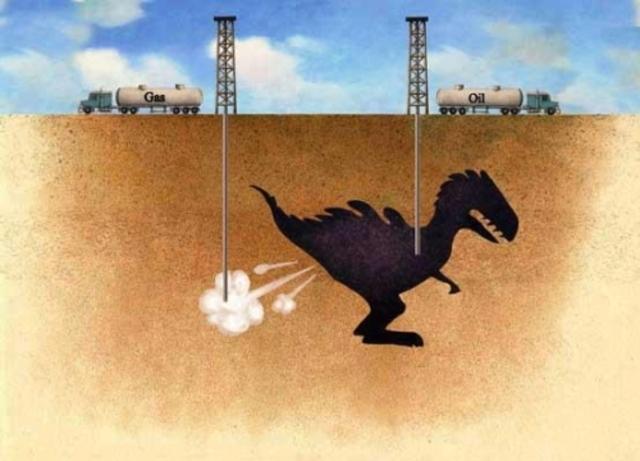 El carbon, el gas y el petroleo.