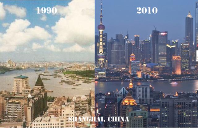 Mega construcciones en ciudades.