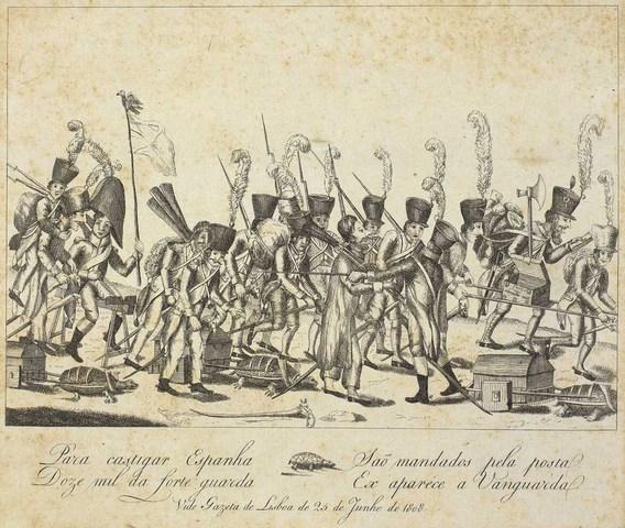 Exército inglês chega a Lisboa