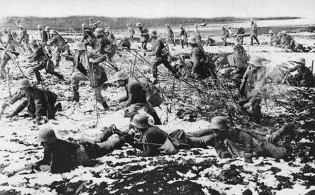 Atac francès a les trinxeres alemanyes