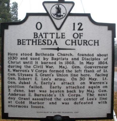Battle of Bethesda Church