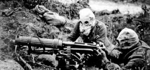 Alemanya fa servir gasos asfixiants.