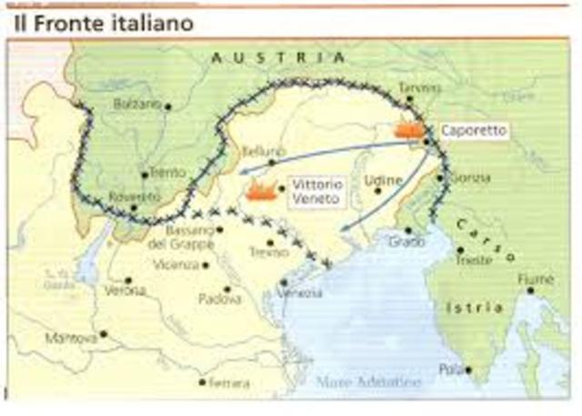 Derrota D'Itlàlia a Caporetto.