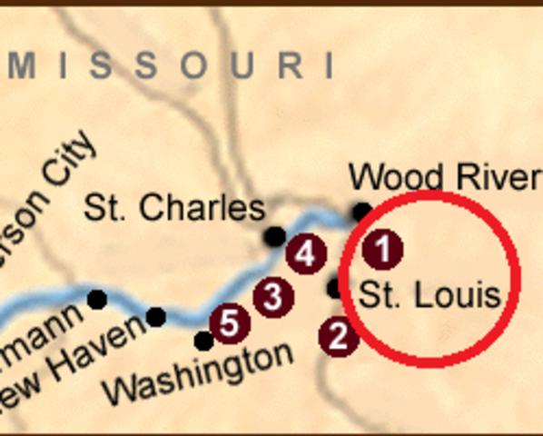 Starting point St. Louis, Missouri