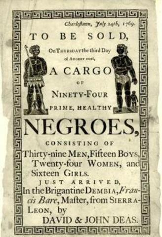 Portuguese start the slave trade out of West Africa