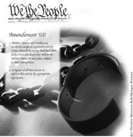 Thirteenth Amendment abolishes slavery