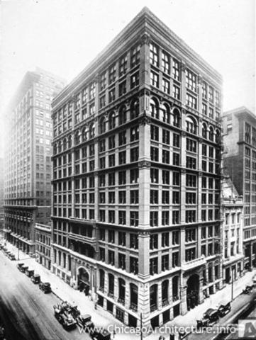 First ten storey skyscraper built in Chicago