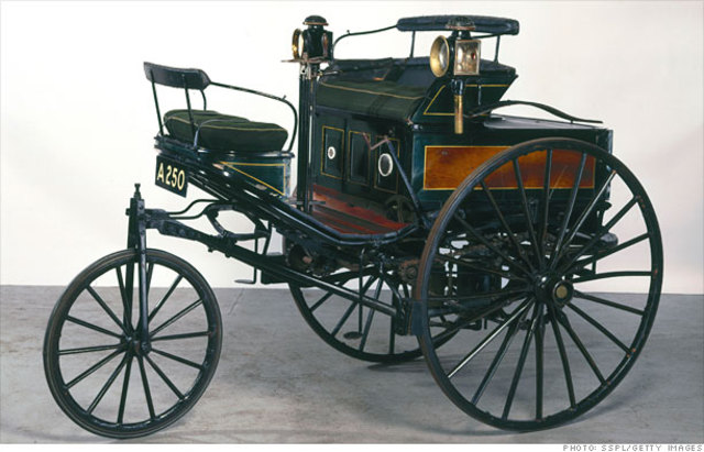 Karl Benz invents the internal combustion engine.