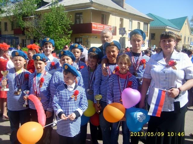 Участие в параде, посвященному Дню Победы