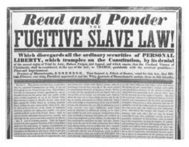 Futigitve Slave Act is enacted