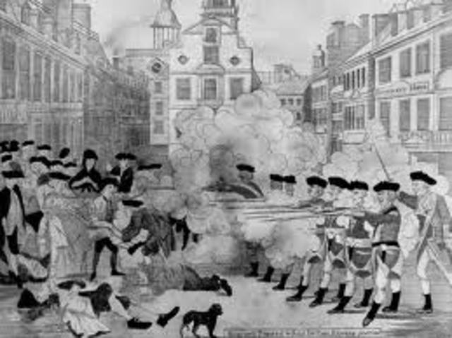 When The Boston Massacure Was
