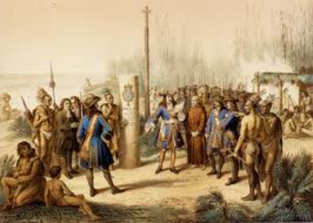 La Salle claimed Mississippi River for Spain