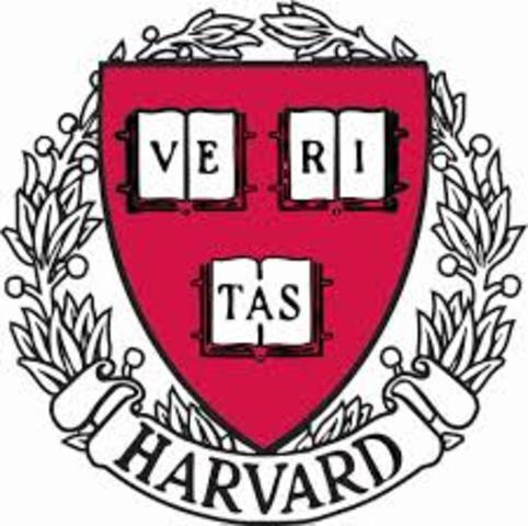 Harvard University Established