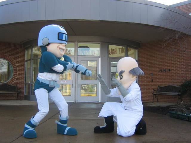 Ace Clean and Professor Grime Visit Oakridge
