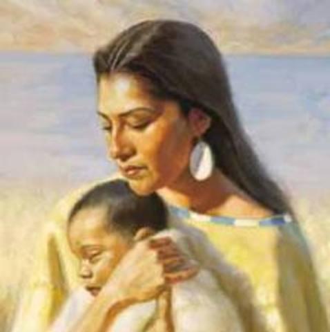 Sacagawea Gives Birth