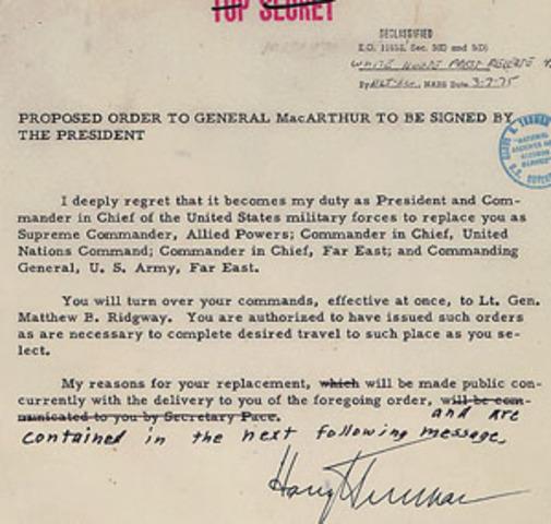 Major Asian Land War/MacArthur is Fired