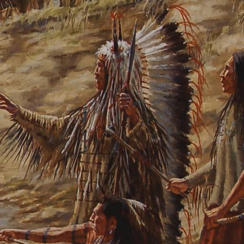 The first council between the Yankston Sioux and the Corps of Discovery