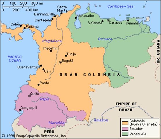 """Ecuador leaves """"Gran Colombia"""""""