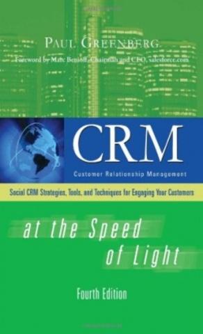 Гринберг выпустил книгу «CRM at the Speed of Light»