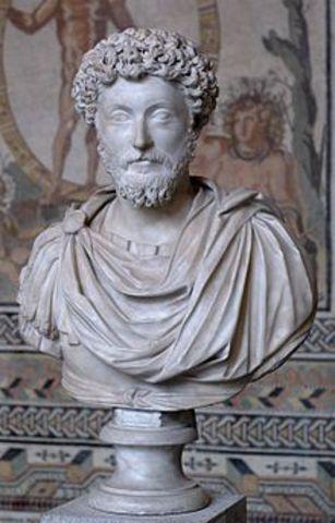 Muerte de Marco Aurelio; Cómodo, emperador.