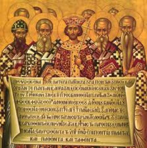 Constantino proclama el Edicto de Milán