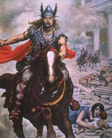 Atila invade las gálias