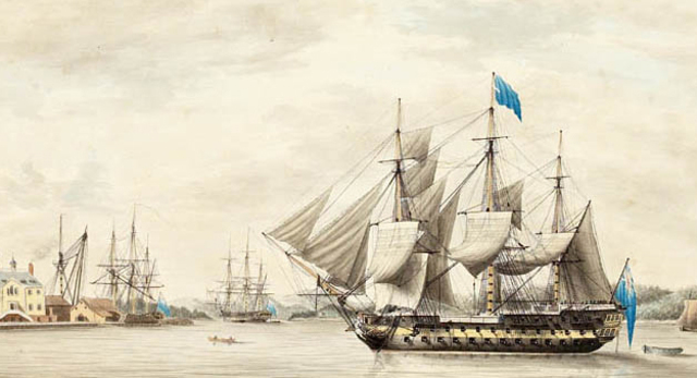 British Blockades American ports