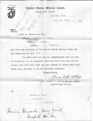United States Marine Corps Enlistment
