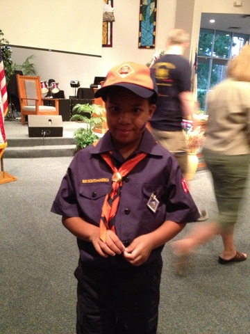 My First Award in Boys Scouts