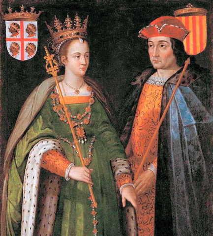 Matrimonio entre Isabel de Castilla y Fernando de Aragón.
