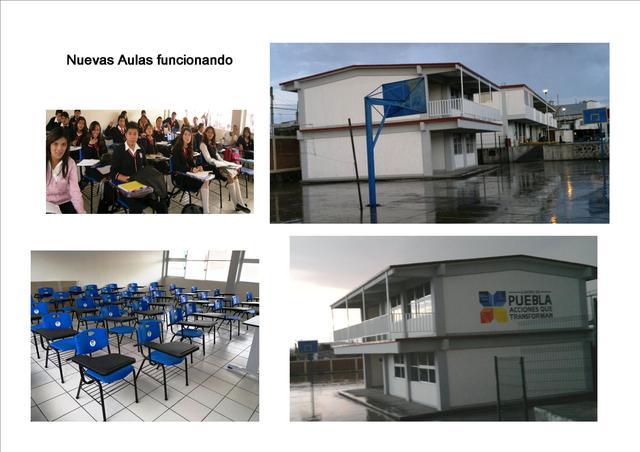 Entrega y uso de nuevas aulas