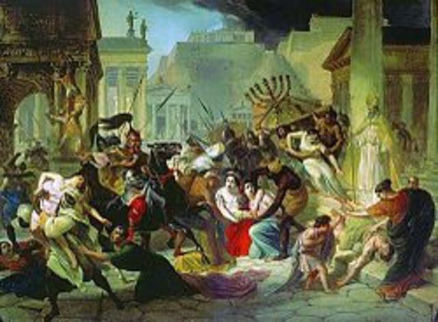 El saqueo de Roma.