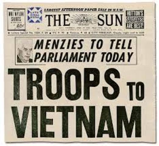 U.S sends troops to Vietnam