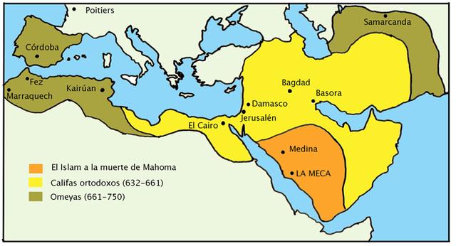 Expansion Imperio Árabe