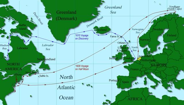 Henry Hudson begins search for Northwest Passage