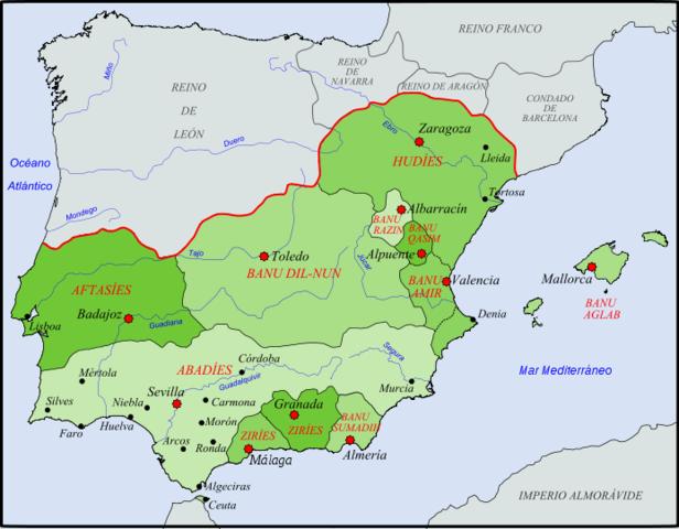 """Disolución del califato de Córdoba: reinos de """"taifas"""""""