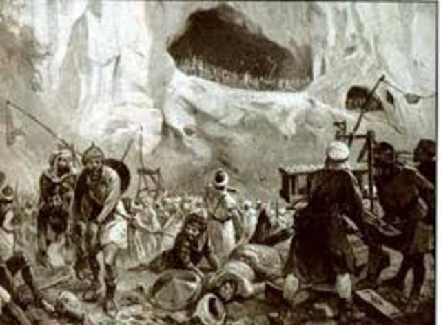 ESPAÑA, RECONQUISTA: Batalla de Covadonga