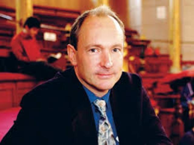 Tim Berners-Lee , pesquisador europeu cria a World Wide Web ( WWW) que origina a Internet.