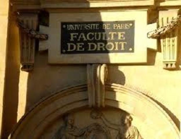 Etudes de droits à Paris