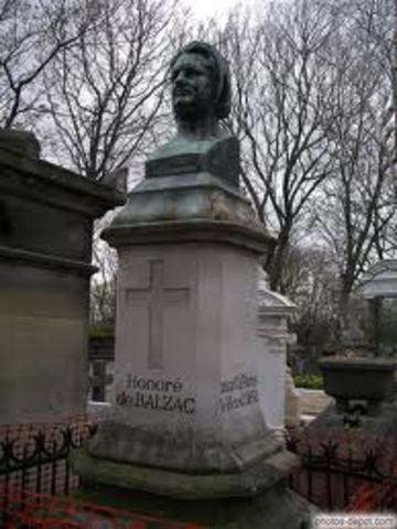 Mort de Balzac