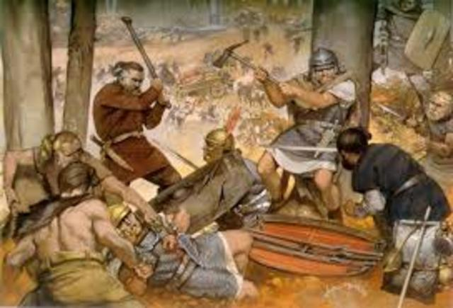Caída del Imperio Romano.