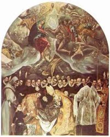 """ESPAÑA, ARTE (manierismo): """"El entierro del Conde de Orgaz"""" del Greco"""