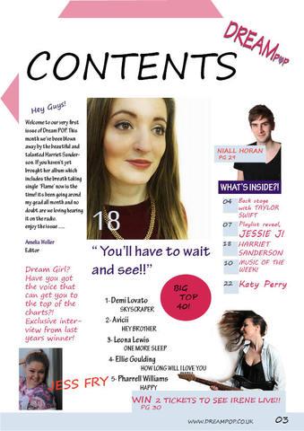 Contents Page - Navigation