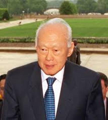 Lee Kuan Yew became Singapore's first Prime Minister