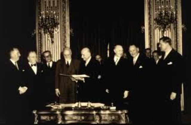El Tratado de París.