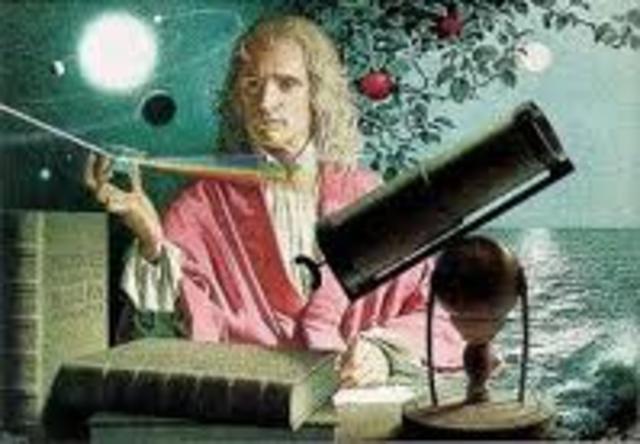 Newton postula el principio de la gravitación universal.
